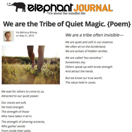 elephant journal Tribe of Quiet Magic